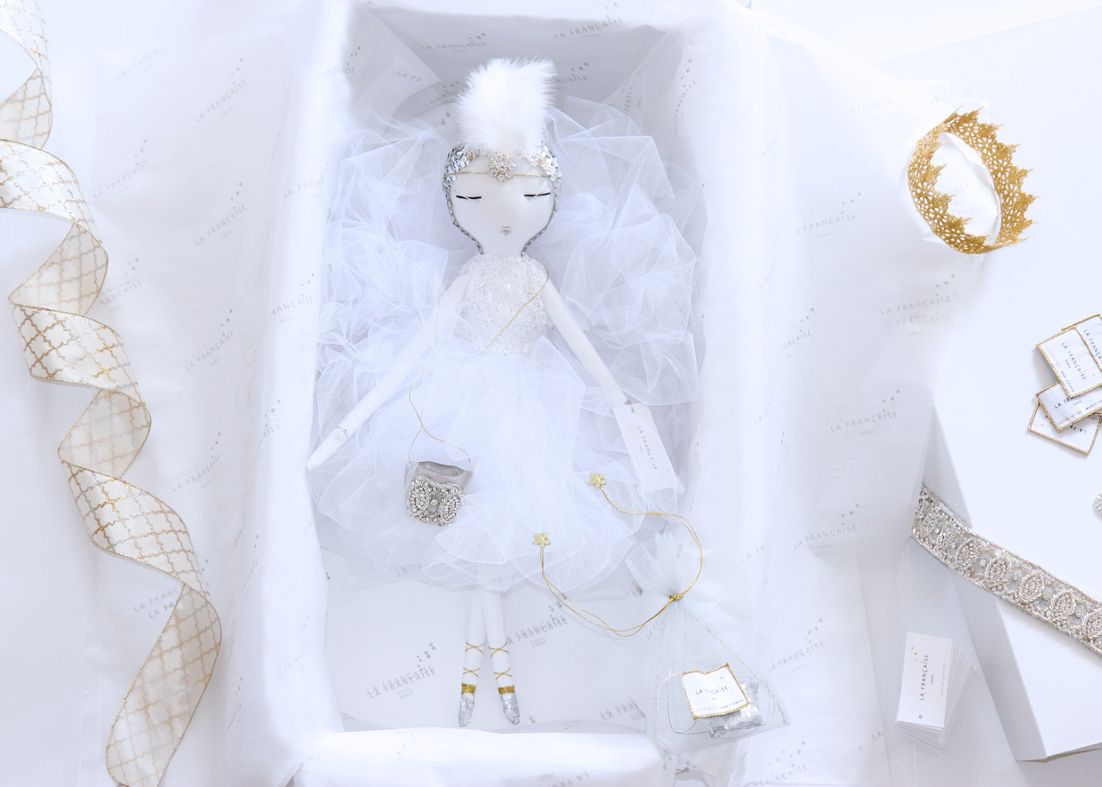 poupée, bambola, кукла, handmade, lafrançaise.paris, lafrançaise, lafrancaise, doll, luxe, tutu, baby, paris, france, princesse, beautiful, gift, present, chic, Christmas, packaging, Bérénice